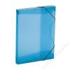 VIQUEL Gumis mappa, 30 mm, PP, A4, VIQUEL Propyglass, kék (IV021346)
