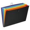 "VIQUEL Harmonikamappa, PP, A3, 6 rekeszes, VIQUEL ""Rainbow Class"", fekete"