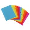 "VIQUEL Regiszter, műanyag, A4 maxi, 12 részes, VIQUEL, ""Happy Fluo"", színes"