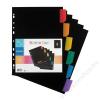 VIQUEL Regiszter, műanyag, A4 Maxi, 6 részes, VIQUEL , fekete (IV157067)