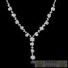 Virágos kristály nyaklánc, ezüst színű