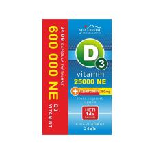 Vita Crystal D3-vitamin 25 000NE heti 1 kapszula 200 mg Quercetin 6 hónapos kiszerelés vitamin és táplálékkiegészítő