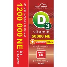 Vita Crystal D3-vitamin 50 000NE heti 1 kapszula 200 mg Quercetin 6 hónapos kiszerelés vitamin és táplálékkiegészítő