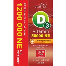 Vita Crystal D3-vitamin 50 000NE heti 1 kapszula 50 000 mikrogramm Q10 vitamin és táplálékkiegészítő
