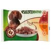 VitalBite teljes értékű állateledel felnőtt kutyák számára marhával és csirkével szószban 4 x 85 g