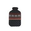 Vivamax Melegítő palack, téli mintás, kék-piros, 2000 ml