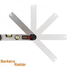 vízmérték, digitális szögmérővel, 305mm, 2 libella, ±0,5mm/1m, illetve 0-225°, ±0,3°, LCD kijelző mérőműszer