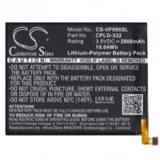 Vodafone Smart 4 Max, Akkumulátor, 2800 mAh, Li-Polymer, CPLD-332 kompatibilis mobiltelefon akkumulátor