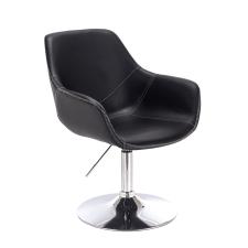 Votana HR876N Fekete Ekológikus Bőr szék tárgyalószék