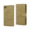 WALLET notesz tok / flip tok - MATT SÁRGA - asztali tartó funkciós, oldalra nyíló, rejtett mágneses záródás, bankkártyatartó zseb - SONY Xperia Z5 Compact