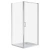 Wellis Quadrum szögletes egy nyílóajtós zuhanykabin Easy clean bevonattal zuhanytálca nélkül