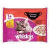 Whiskas 1+ Klasszikus Válogatás teljes értékű eledel macskák számára krémes szószban 4 x 85 g