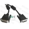 WIRETEK kábel DVI monitor Összekötő 2m, Male/Male, Dual Link, Árnyékolt
