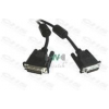 WIRETEK kábel DVI monitor Összekötő 3m, Male/Male, Dual Link, Árnyékolt
