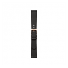 Withings bőr óraszíj - fekete/rózsaarany (Steel HR 36mm, Move, Move ECG, Scanwatch 38mm)