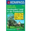 WK 172 - Hersbrucker Land in der Frankenalb turistatérkép - KOMPASS