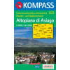 WK 623 - Altopiano di Asiago turistatérkép - KOMPASS