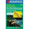 WK 829 - Die Rheinhöhenwege turistatérkép - KOMPASS