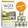 Wolf of Wilderness száraz & nedves kutyaeledel próbacsomag: Adult Mix - lazac, rénszarvas
