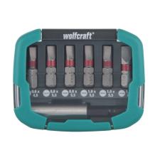 Wolfcraft Bit-box csavarozó bit készlet Solid, 7 részes bitfej készlet