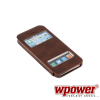 WPOWER Apple iPhone 5S műbőr telefontok, barna