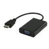 WPOWER HDMI apa - VGA anya átalakító 27cm, fekete