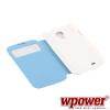 WPOWER Samsung Galaxy S4 műbőr telefontok, kék
