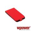 WPOWER Samsung Galaxy S5 valódi bőr telefontok, piros
