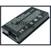 X61 Series 4400 mAh 6 cella fekete notebook/laptop akku/akkumulátor utángyártott