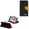 Xiaomi Redmi 4A, Oldalra nyíló tok, stand, Canvas Book, fekete