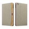 XOOMZ borító textil felülettel és PU műbőr dekorral Apple iPad Mini 4 - bézs