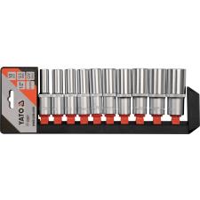 YATO Dugókulcs készlet 10 részes 1/2 col: 10-24 mm profi CrV dugókulcs