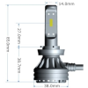Yeaky H8 - H9 - H11 Led ködlámpa világítás 25W