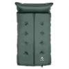 Yukatana Goodbreak 3, 3cm, zöld, dupla felfújható habszivacs, matrac, önfelfújó, fejrész
