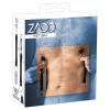 ZADO - bőr pántos, széles mellcsipesz (fekete) - 1pár