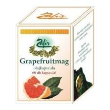 Zafir grapefruitmag olajkapszula 60 db gyógyhatású készítmény