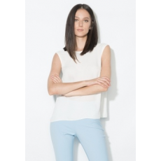 Zee Lane Collection Fehér Áttetsző V-nyakú Top 36 (ZL0026-WHITE-36)