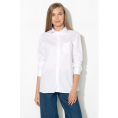Zee Lane Collection , Foltzsebes pamuting, Fehér, L (ZLC18S-0A31-WHITE-L)