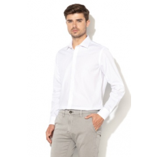Zee Lane Collection , Pamuting széles gallérral, Fehér, L (ZLC18S-7550802-WHITE-L)