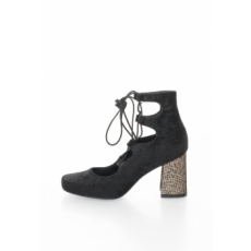 Zee Lane Collection - Velvety Lace-Up Shoes, Fekete, 38 (2162-CINIGLIA-NERO-ZNC-38)