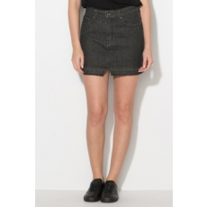 Zee Lane Denim , Mini farmerszoknya, Fekete, L (ZL17F-0081-BLACK-L)