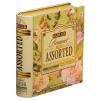 ". Zöld tea, filteres, 4x8x1,5 g, fém könyv dobozban, ""BASILUR Bouquet Assorted"""