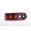 Zooleszcz NEO fényvisszaverő bőr nyakörv - Piros