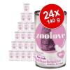 zoolove Gazdaságos csomag: zoolove macskaeledel 24 x 140 g - Tonhal