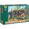 Zvezda Wargames (AoB) figurky 8059 - Medieval Peasant Army (1:72)