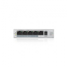 ZyXEL GS1005-HP, 5 Port Gigabit PoE+ unmanaged desktop Switch, 4 x PoE, 60 Watt hub és switch